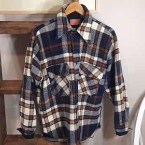 C.P.O. Vintage Sears Plaid Wool Naval Button Down